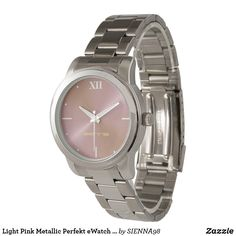 Light Pink Metallic Perfekt eWatch Watch