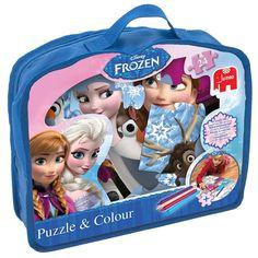 Disney Frozen 24 Piece Giant Puzzle and Colour Jigsaw image-0