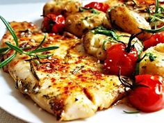 Filet ze štiky na rozmarýnu » Rybářský rozcestník Vegetable Pizza, Fish, Meat, Chicken, Vegetables, Cooking, Recipes, Google, Fitness