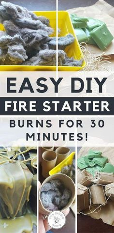 Make your own fire starters for free! These were free and easy to make and burned for 30 minutes. Survival Food, Homestead Survival, Camping Survival, Survival Prepping, Survival Skills, Survival Hacks, Survival Supplies, Wilderness Survival, Emergency Preparedness