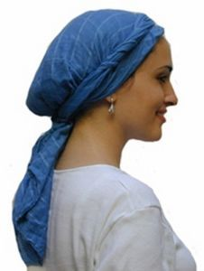 """Directions for how to tie a scarf """"Jerusalem Twist Style.""""  (for when you don't want to shampoo your hair to go to the grocery store. :)"""