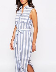 Buy Warehouse Side Split Stripe Midi Dress at ASOS. With free delivery and return options (Ts&Cs apply), online shopping has never been so easy. Get the latest trends with ASOS now. The Blonde Salad, Striped Midi Dress, Side Split, Fashion Online, Wrap Dress, Asos, Vogue, Chic, Casual