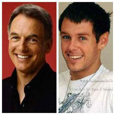 Like father like son. Mark and Sean Harmon. If you see a younger picture of Mark Harmon, his son looks a lot like him.