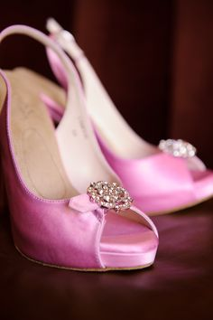 "Debi Mandala: ""A pop of pink!  Amazing wedding shoes by Angela Nuran. "" #AngelaNuranContest1"