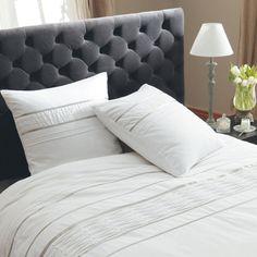 Tête de lit capitonnée en velours grise L 160 cm Chesterfield | Maisons du Monde