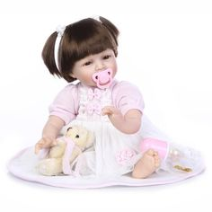 22 Inch 55 cm Reborn Baby Doll Realistic Real Looking Silicone Reborn Babies girl Doll Reborn Fashion Kids bebe Brinquedos