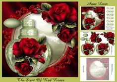 Gorgeous Perfume Bottle - The Scent Of Red Roses
