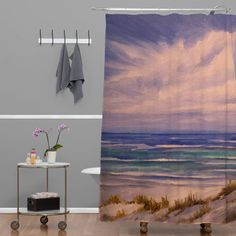 69 by 70-Inch Kess InHouse Rosie Brown Florida Sunset Palm Tree Shower Curtain