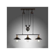 Buy Ceiling Lights American Country Wrought Iron Chandelier Industrial Wind Pendant 3 Lights Bulb Included with Lowest Price and Top Service!