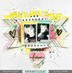 Hip Kit Club DT Project - 2016 February Hip Kits - Crate Paper Maggie Holmes, Shimmerz, American Crafts, Studio Calico, Pink Paislee
