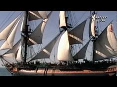 ▶ A-W-E-S-O-M-E HMS SURPRISE - Tall Ship on the Open Sea! -
