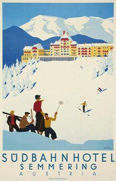 Semmering Ski Vintage Poster 1933
