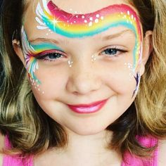 Face Painting Unicorn, Girl Face Painting, Face Painting Tips, Belly Painting, Unicorn Face, Face Painting Designs, Diy Face Paint, Skin Paint, Kids Makeup