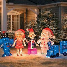 The Misfit Toys Rudolph Reindeer Santa Hermey Elves Christmas Yard Decor Lighted #RudolphTheRedNoseReindeer