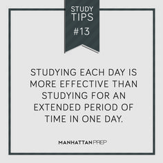 Studying each day is more effective than studying for an extended period of time in one day. From a GRE prep site, but this is a well-established psychology finding that applies to studying any topic.
