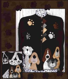 Pound Hounds Jacket & Totes Pattern by Whistlepig Creek Productions - Sue Marsh. Comes with 2 tote patterns. Machine À Quilter, Sewing Machine Quilting, Sweatshirt Jackets Diy, Sweatshirt Refashion, Sewing With Nancy, Tote Pattern, Jacket Pattern, Dog Purse, Fitness Hose