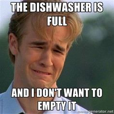 The Dishwasher is full And I don't want to empty it | Dawson Crying | Meme Generator