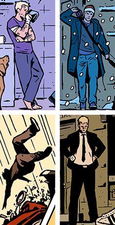 Clint Barton. Hawkeye. Marvel Comics. Matt Fraction. David Aja.