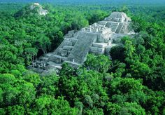 Danta's pyramid, El Mirador, Petén, GUATEMALA. World's largest pyramid built by the Maya in the year 600 BC.