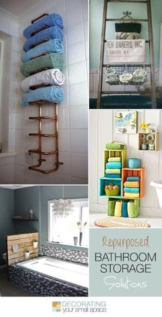 Repurposed Bathroom Storage Solutions! • Ideas & Tutorials! by sillyme2