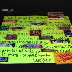 Fathers day candy card, great for our candy lover!