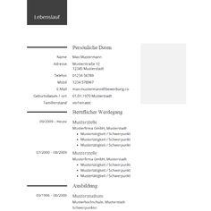 Lebenslauf Beispiel für die Bewerbung - Example CV for your Resume | #lebenslauf #cv #bewerbung #resume