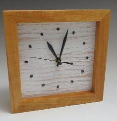 Carolina Creations | Sabbath Box Clock White<BR>SALE PRICE 45 | Fine Art Contemporary Gift Gallery