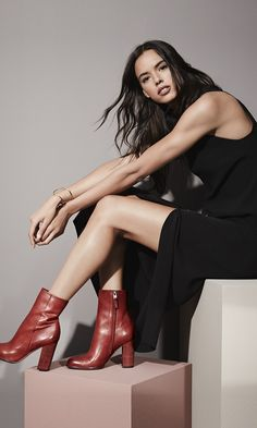 A sleek side-zip bootie is destined to be a go-to this Fall season thanks to its stacked heel and easygoing round toe. @Nordstrom