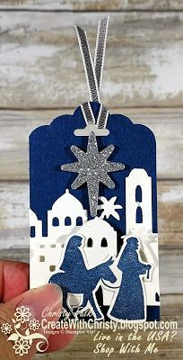 Complete instructions included - Stampin' Up! Night in Bethlehem Bundle - handmade Christmas Tag - Create With Christy: The Remarkable InkBig Blog Hop - Christy Fulk, Independent SU! Demo
