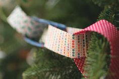 fabric tree garland-Christmas crafts for kids