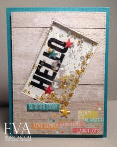 by Eva Bussom: SSS August Kit Shaker Card