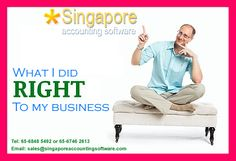What I did RIGHT to my business ? #Accountingsoftwareforbusiness Singapore Accounting software is an #applicationsoftware for business that records and processes accounting transactions within functional modules such as accounts payable, accounts receivable, payroll, and trial balance. It operates as an accounting information system. Our #accountingsoftwareSingapore is time saving, simple and easy to use.