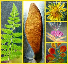 Easy DIY Nature slides for kids! Fun on the light table or in the window!