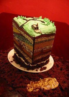 Geology themed cake