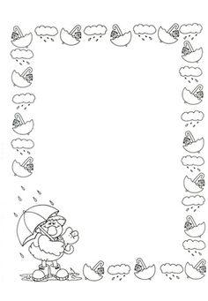 tekenkader: de regen.                                                       …