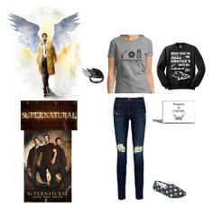 """Supernatural Outfit 2"" by phoenix1053 ❤ liked on Polyvore featuring Frame"