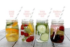 Four Infused Water #Recipes // they taste as good as they look