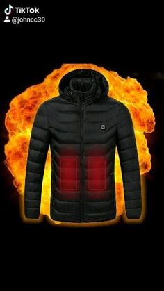 Body Warmer, Down Vest, Keep Warm, Going Out, Black And Grey, Winter Jackets, Usb, Unisex, Coat