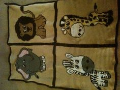Crocheted Safari Baby Blanket that I created