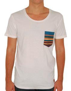 # T-shirt blanc cassé pocket Madai http://www.letagehomme.com/t-shirt-blanc-casse-pocket-madai.html