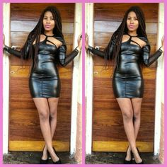 tight leather dress by me www.richbyrina.blogspot.com