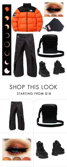 """No Security - Skepta"" by thegeneralparadox ❤ liked on Polyvore featuring Anrealage, The North Face, Lacoste, Buffalo, men's fashion, menswear, Skepta and afroswing"