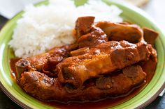 This Mexican pork ribs recipe is sure to become a family favorite once you try them. They're simmered in a red salsa that will have you licking your plate! Authentic Enchilada Sauce, Recipes With Enchilada Sauce, Sauce Recipes, Pork Enchiladas, Pork Tamales, Pork Riblets, Riblets Recipe, Champurrado Recipe, Mole Recipe