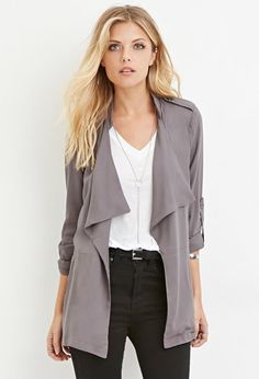 Contemporary Draped Open-Front Jacket | Forever 21 - 2000080835