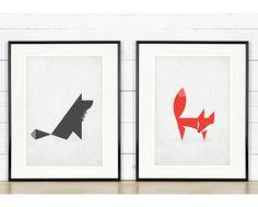 Imprimer affiche rétro au design nordique simple de par EmuDesigns