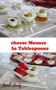 Cheese Mouse Desert Served in Spoons
