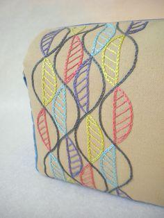 Harujion Design: Modern Embroidery Messenger / Shoulder bag