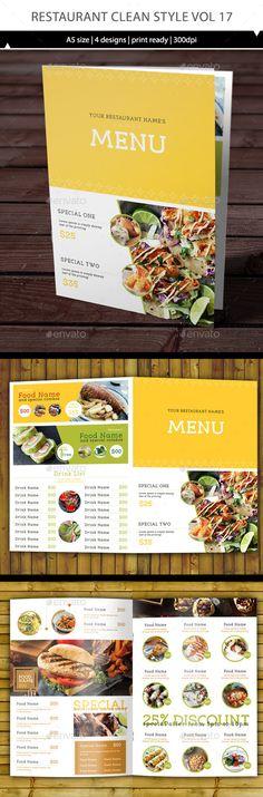 Restaurant Menu Template Vector EPS, AI #design Download: http://graphicriver.net/item/restaurant-menu-vol-17/14114161?ref=ksioks