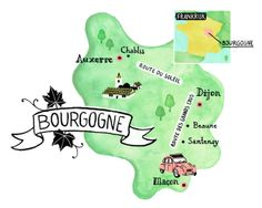 Valseca van Waveren - Burgundy wine map for Red Magazine Art And Illustration, Illustrations, Burgundy Wine Map, Auxerre, Illustrated Maps, Simple Icon, Travel Around The World, Design Inspiration, Magazine