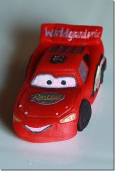 marzipan - cars - edible